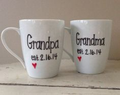 Pregnancy  mug, new grandma and grandpa, grandparent mug, Mother's Day mug, gift for Mother's Day