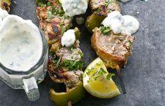 Herbed Greek Lamb Kebabs