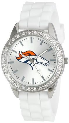 """Game Time Women's NFL-FRO-DEN """"Frost"""" Watch - Denver Broncos Game Time Welcome to Heaven - http://touchdownheaven.com/category/categories/denver-broncos-fan-shop/"""