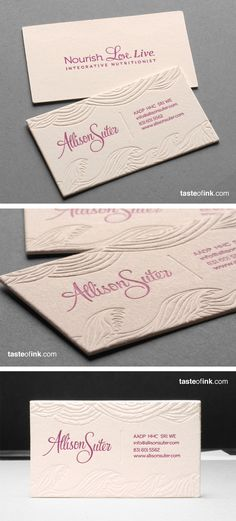 Pink Letterpress Printed Business Cards Card Fonts Examples Of Beauty