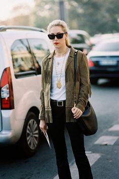 Vanessa Jackman: Paris Fashion Week SS 2015....Joanna