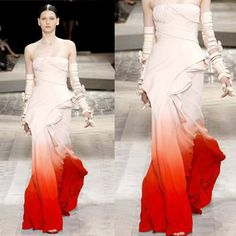 the dress for when I want to feel like a butterfly just emerging from its cocoon......... Ombre Gown by Givenchy