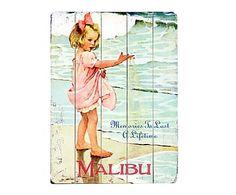 Print op hout Malibu, multicolour, 35,6 x 50,8 cm