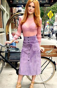 Bella Thorne Off to the Jill Stuart spring fashion show