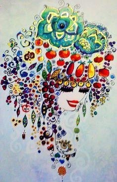 h a t t ı s o u l Acrilic Paintings, Oriental, Pomes, Collage, Tile Art, Art Festival, Gravure, Art Education, Fantasy Art