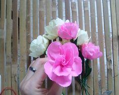 Miniature rose paper flower tutorial - Hướng dẫn làm hoa hồng tỉ muội