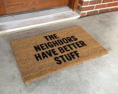 Home defense welcome mat...