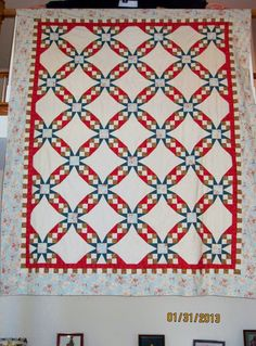 Quilt 6 - This pattern is called the Tennessee Waltz