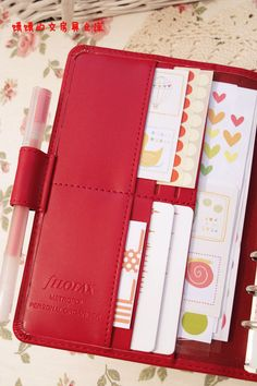 Metropol personal - onlylady.com | this is such a beautiful red shade [heart eyes]. i will definitely keep this in mind when i get a planner.
