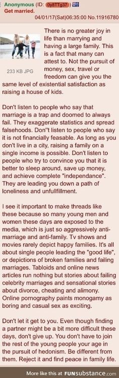 Anon speaks about marriage