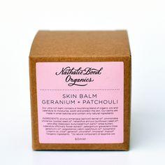 Nathalie Bond Organics   Bálsamo Rosa Geranio & Pachulí - Rose Geranium & Patchouli Skin Balm   Tienda Online de Cosmética Natural