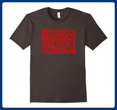 Mens Who Needs a Superhero When You're a Goalkeeper T-Shirt (Red) 3XL Asphalt - Superheroes shirts (*Amazon Partner-Link)