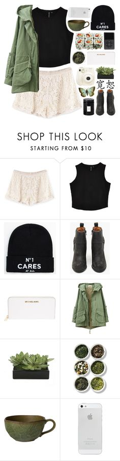 """""""Be freed"""" by admir-ing ❤ liked on Polyvore featuring Reason, Jeffrey Campbell, Michael Kors, Lux-Art Silks, Tea Collection, Polaroid and Voluspa"""