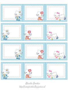 Only for personal use . Printable Planner Stickers, Printable Labels, Notebook Labels, Planner Sheets, Hello Kitty Pictures, School Labels, Printable Activities For Kids, Hello Kitty Birthday, Writing Paper