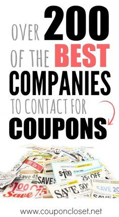 a HUGE list of the best Companies to Contact for more coupons - learn how to contact your favorite brands to receive high value coupons.