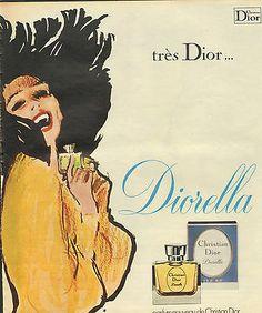 Publicité 1970 parfum ( René Gruau )