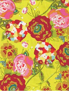 Lilly Belle  Garden Rocket in Ruby Yellow with by Suzyqfabrics, $7.50