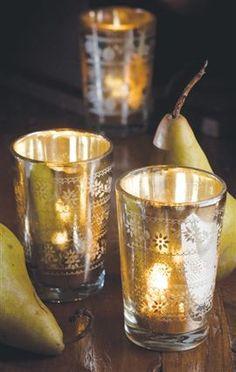 Antiqued Mercury Glass Hurricanes I Mothology Ascha Thompson Candle Lanterns, Votive Candles, French Table, Cool Lighting, Candle Lighting, Mercury Glass, Hurricane Glass, Decorative Accessories, Tablescapes