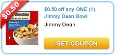 $0.50 off any ONE (1) Jimmy Dean Bowl