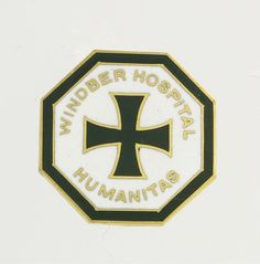 Vintage Windber Hospital Pin - 14k Yellow Gold Polished Enameled Humanitas Fine