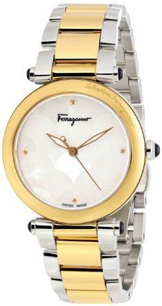"Salvatore Ferragamo Women's FI2050013 ""Idillio"" Gold Ion-Plated Stainless Steel and White Mother-of-Pearl Watch Salvatore Ferragamo http://www.amazon.com/dp/B00CPKKAK8/ref=cm_sw_r_pi_dp_rKECub1B0MGF2"