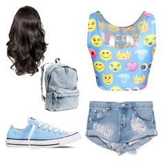 """""""Untitled #1"""" by flawlesssisters ❤ liked on Polyvore featuring One Teaspoon, Converse and H&M"""