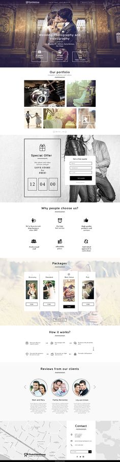 landing-page weddingphotography and videography