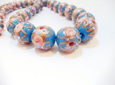 Hey, I found this really awesome Etsy listing at https://www.etsy.com/listing/209629760/murano-blue-glass-1950s-beaded-necklace