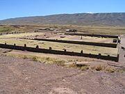 Vista parcial de Tiahuanaco.