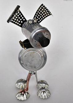 Found object robot dog - Steampunk Sculpture - Dixie Dog