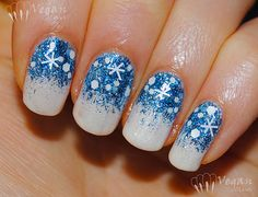 Let It Snow On Your Nails 20 Snowflake Nail Arts | See more nail designs at http://www.nailsss.com/french-nails/2/