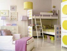 Interior Design Ideas for Girls' Bedroom - Fresh Bedroom Design Ideas for Twin… Bunk Bed With Desk, Bunk Beds With Stairs, Girls Room Design, Kids Bedroom Designs, Design Room, Bedroom Ideas, Girls Bunk Beds, Kid Beds, Cool Kids Bedrooms