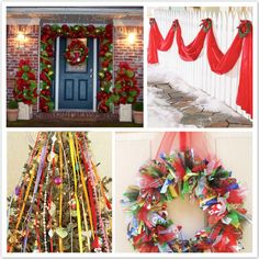 Decoration, Christmas Decorations Outside Ideas: The Attractive Simple & Easy Outdoor Christmas Decorating Ideas