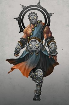 monk, mask, fighter, warrior