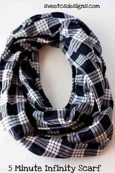 Sewing Ideas for Clothes | DIY Infinity Scarf Tutorial at http://diyjoy.com/quick-sewing-projects-diy-ideas