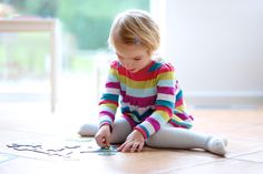 Sitting in a 'W' position on the floor is common for kids while they're playing with toys, puzzles or even watching TV.