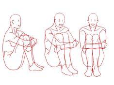 앉은 포즈 크로키/무릎 꿇은 자세 크로키/손 머리 자세/삿대질 포즈 : 네이버 블로그