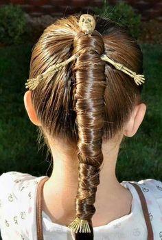10 divertidos #peinados para #halloween #coleta #hairart #haircare #trucospelo