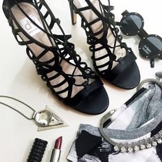 DV Lace Front Sandals in Black Details: • Size 9.5 • Lace up front  • Brand new in box   05281501 DV by Dolce Vita Shoes Sandals