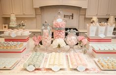 don't love the plain white and pink but I like the setup. & the candy jars.