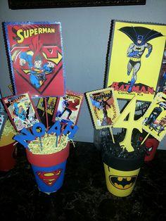 Superhero Centerpieces! By: Barbie Balboa