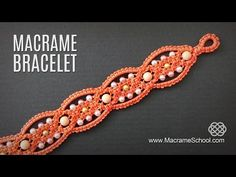 Square Knot Loops Bracelet Tutorial | Macrame School - YouTube