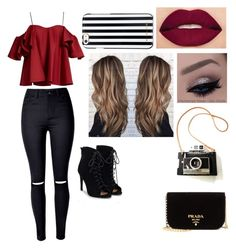 """""""Untitled #57"""" by absetliff on Polyvore featuring beauty, Anna October, Smashbox, MICHAEL Michael Kors, JustFab and Prada"""