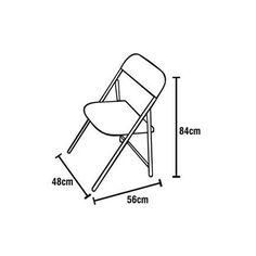 Cadeira Dobrável Entalharte Gourmet 30.1 - Madeira - ShopFácil.com