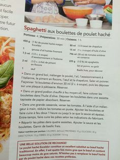 Boulettes hachés Olives, Spaghetti, Cantaloupe, Fruit, Food, Ground Chicken, Dressing, Dumplings, Spice