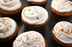 Pumpkin Brown Butter Cupcakes with Cinnamon Frosting ~ Is Yummy