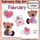 Sweet and fun graphics for the month of February! Set includes a coloring sheet with all graphics on it. (Black and white version of these graphics also available) Girl Bear Boy Bear Valentine Heart Trio of Valentines Valentine in envelope Word art February