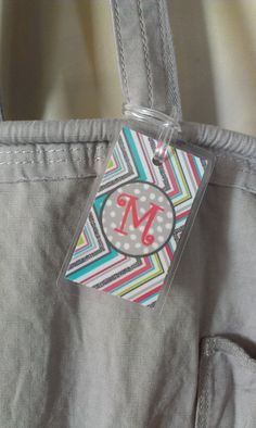 ThirtyOne Consultants  Personalized Luggage by DonnaMsCreations, $5.00.  could make this from older fabric swatches and applique