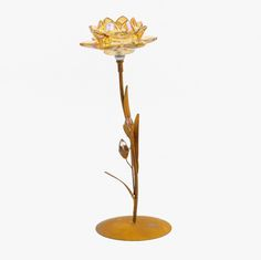 Castiçal Flor de Lotus 35 cm | referência 87869363 | A Loja do Gato Preto | #alojadogatopreto | #shoponline