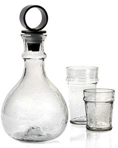 For a more casual take on traditional glassware, this Artesia decanter provides unique rustic appeal (zgallerie.com).